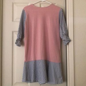 Aspenny pink and striped dress